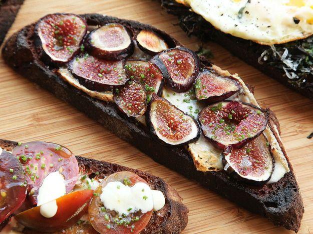 Taleggio Cheese and Mission Fig Tartine