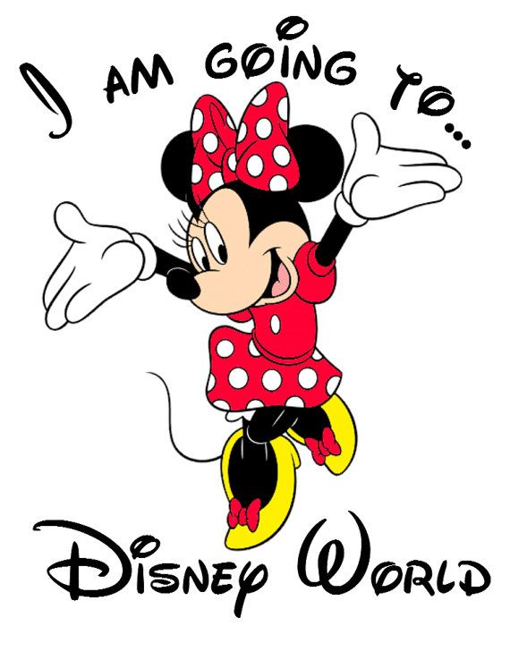 I am going to Disney World Minnie Personalized Custom Iron on Transfer Decal(iron on transfer, not digital download)