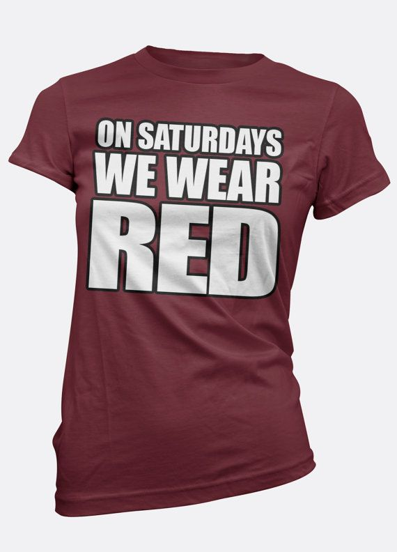 Arkansas  On Saturdays We Wear Red  Arkansas Tee  by WearPurdy