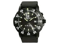 Horloge SWAT  •De naar de speciale eenheid van de Amerikaanse politie vernoemde Smith & Wesson horloge S.W.A.T. laat je nooit in de steek!  •Ook in het donker laat het horloge zich zeer goed aflezen d.m.v. verlichte achtergrond. •De achtergrondverlichting is eenvoudig in te schakelen door één druk op de knop.  http://www.urbansurvival.nl/index.php?action=article&aid=9269&lang=nl&x=promo