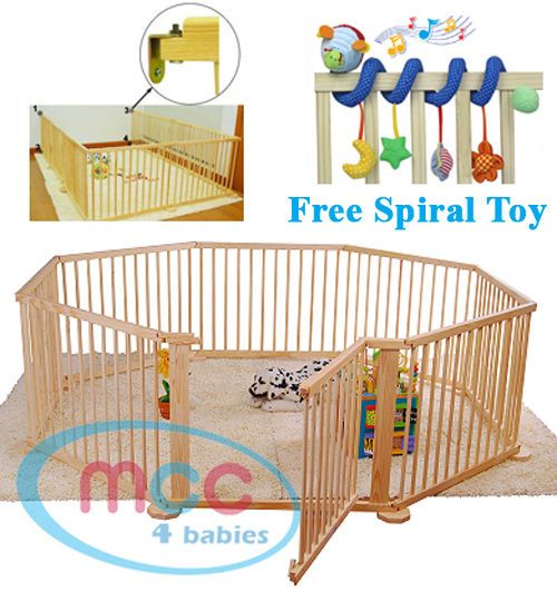 Best Quality Large Foldable Wooden Baby Playpen Room Divider Indoor& Outdoor Use