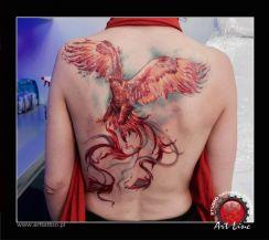 Phoenix tattoo , Artist@Dominik Szymkowiak, Art Line Tattoo Poznan
