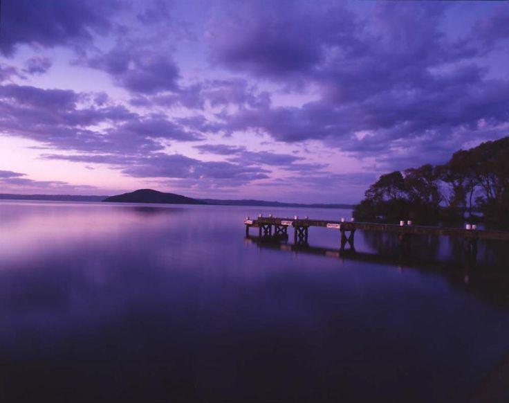 Lake Rotorua, New Zealand.  Visited here 2 years ago and got to meet my godchild!