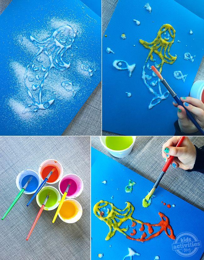 Salt Art Fun – Process Art For Your Little Ones