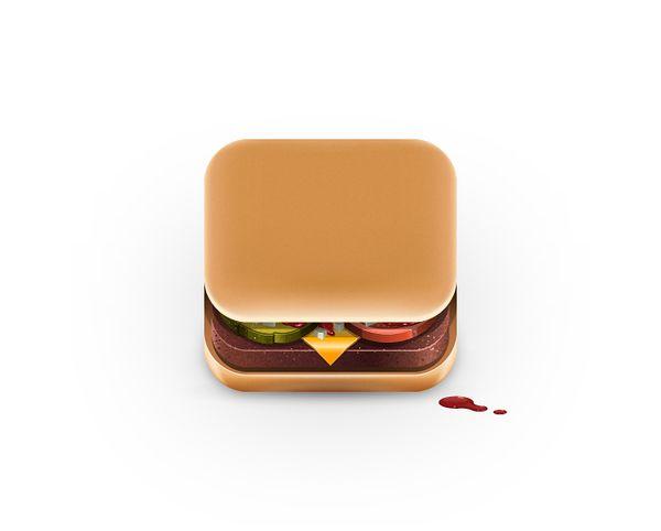 Food App Icons by Julian Burford, via Behance