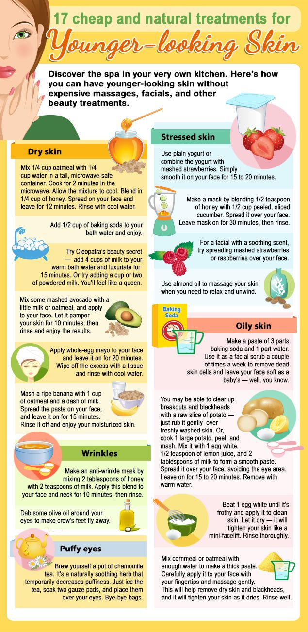 Home remedies can give you younger-looking skin.