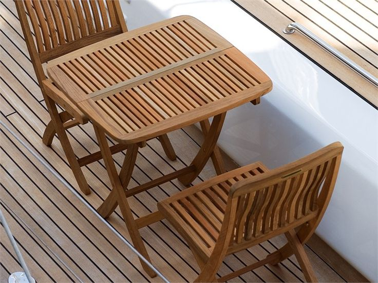 Folding Square wooden garden table DEL REY | Garden table - ROYAL BOTANIA