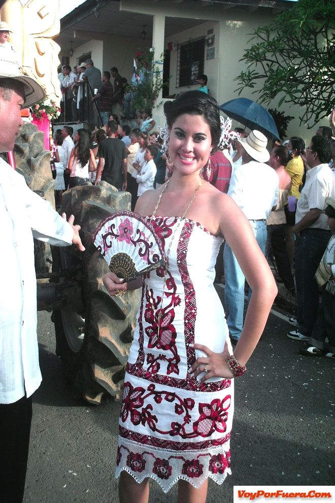 Pollera styled dresses.  Of Panama.