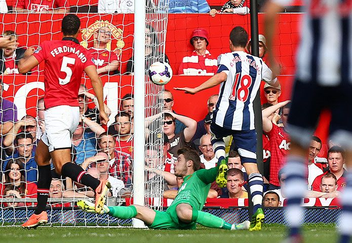 Credit: Jason Cairnduff/Action Images Morgan Amalfitano gives West Brom the lead in the 53rd minute