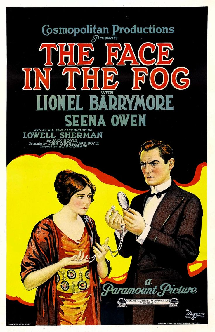 The face in the fog lionel barrymore seena owen lowell sherman george nash louis wolheim director alan crosland