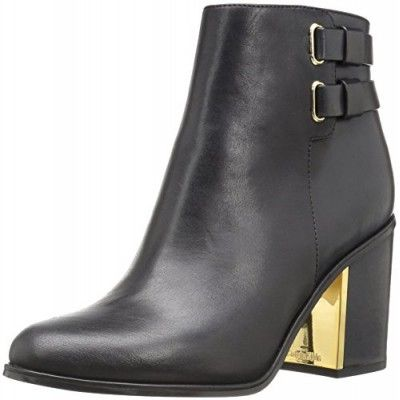 Boots, Calvin Klein, Calvin Klein Women's Cait Ankle Bootie, Black, 5 M US