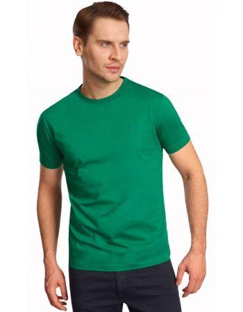 Zielony bawełniany t-shirt Lambert.