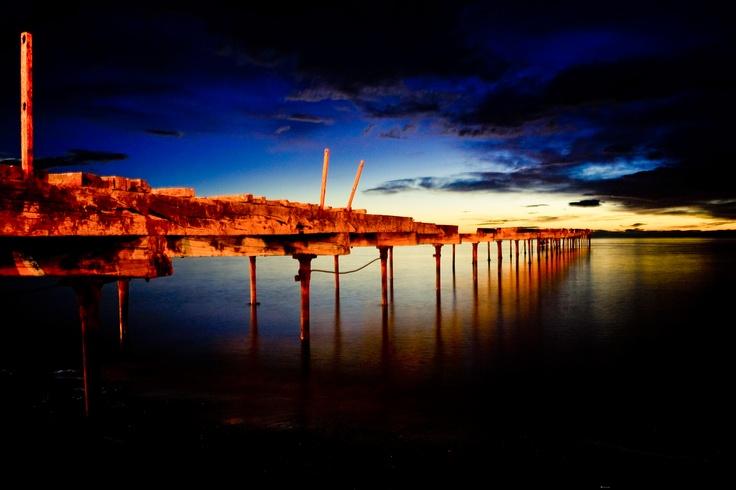 Muelle Loreto en Punta Arenas. Foto de Javier Contreras O.