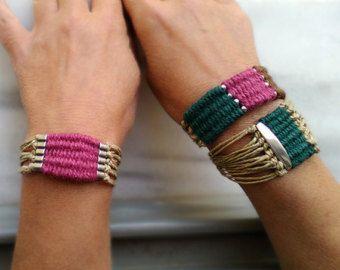 Tessuto filato wrap bracciale braccialetto per di myTotalHandMade