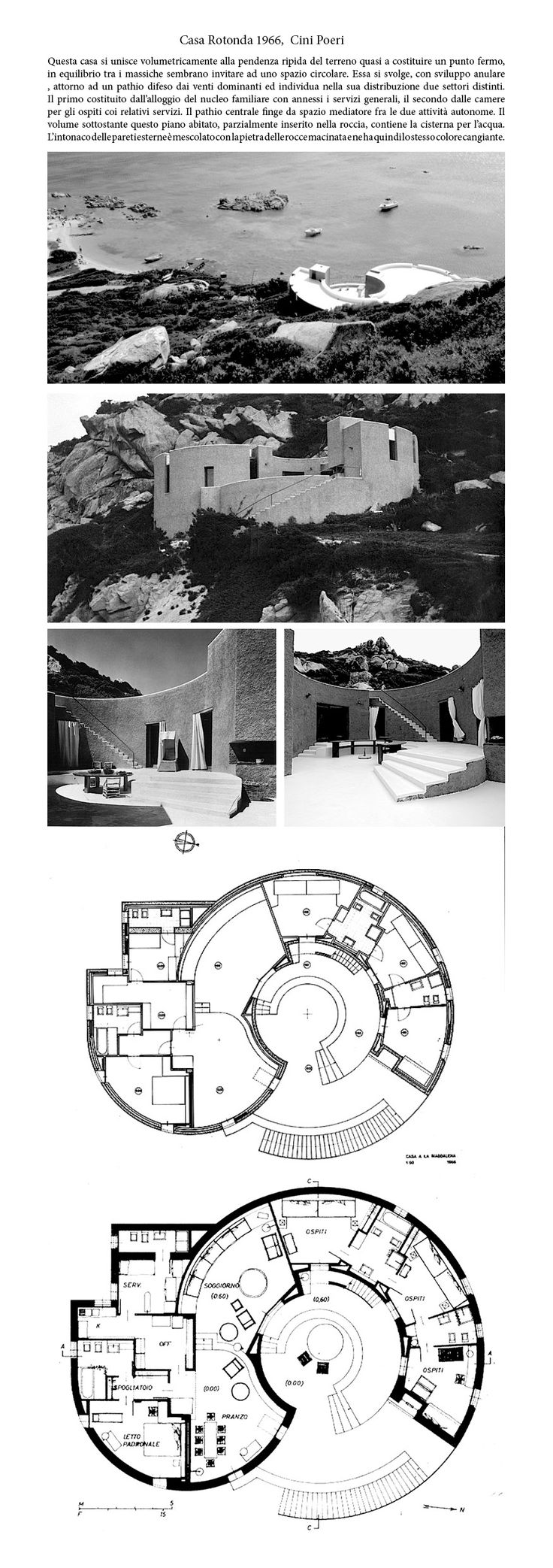 Cini Boeri | Casa Rotonda | La Maddalena, Sassari, Italia | 1966-67