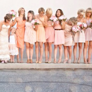 Mix bridesmaid dresses