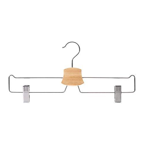 BUMERANG Pants/skirt hanger - IKEA Pants/skirt hanger, chrome plated $0.99 Article Number: 602.404.03