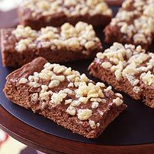 ...interesting take on brownies...add rice crispies on top for crunch