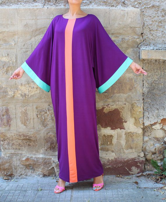 Purple robe Maxi, Caftan, Abaya, Plus size dress, Plus size clothing, robe élégante, Plus taille maxi, caftan, robe de soirée, robe longue