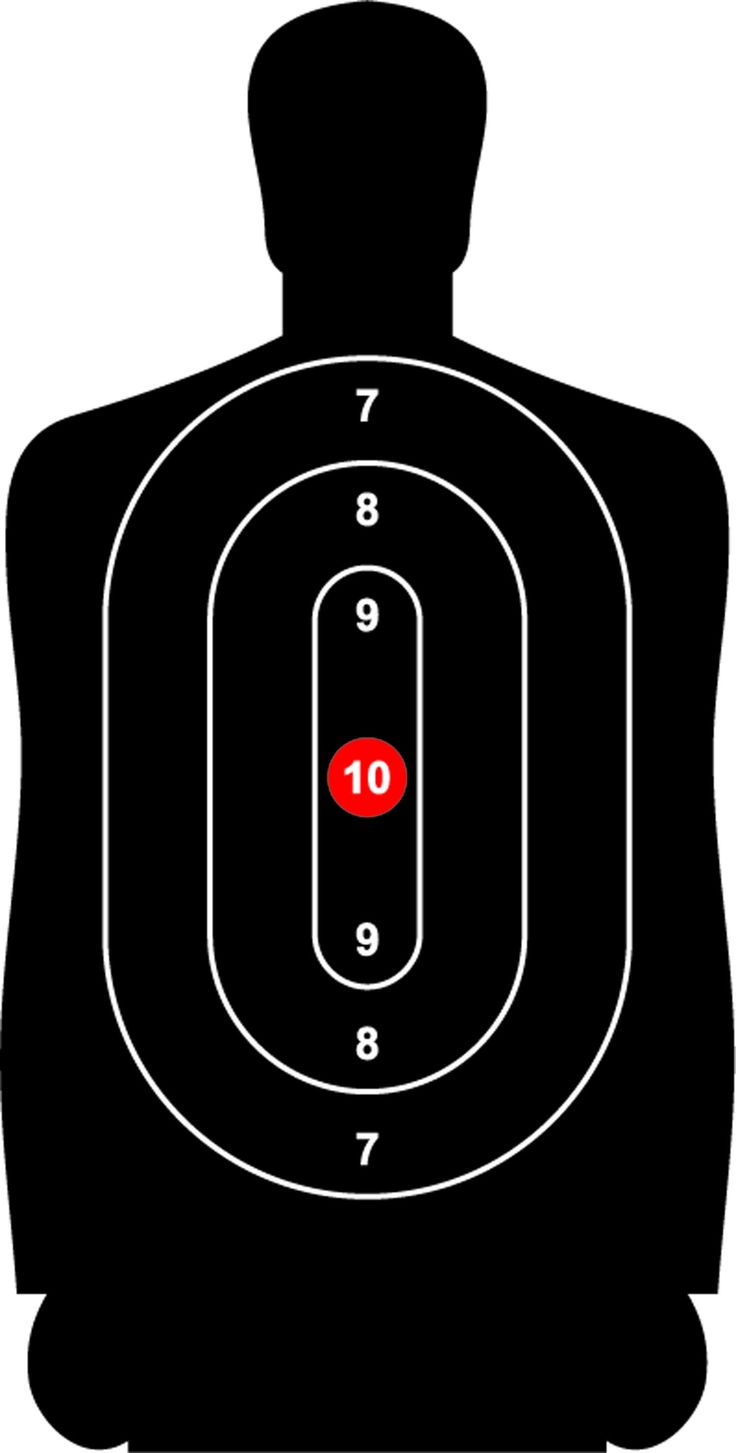 photograph about Printable Silhouette Shooting Targets known as Paper silhouette ambitions Higher education paper Pattern