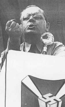 Fritz Kuhn was a German-born, naturalized-American citizen who led the German American Bund prior to World War II . He supported Hitler and was an anti-semite. He was imprisoned during the war, his citizenship was revoked and after the war he was deported back to Germany.
