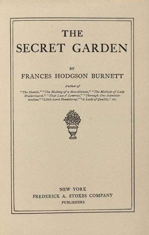 secret garden read online