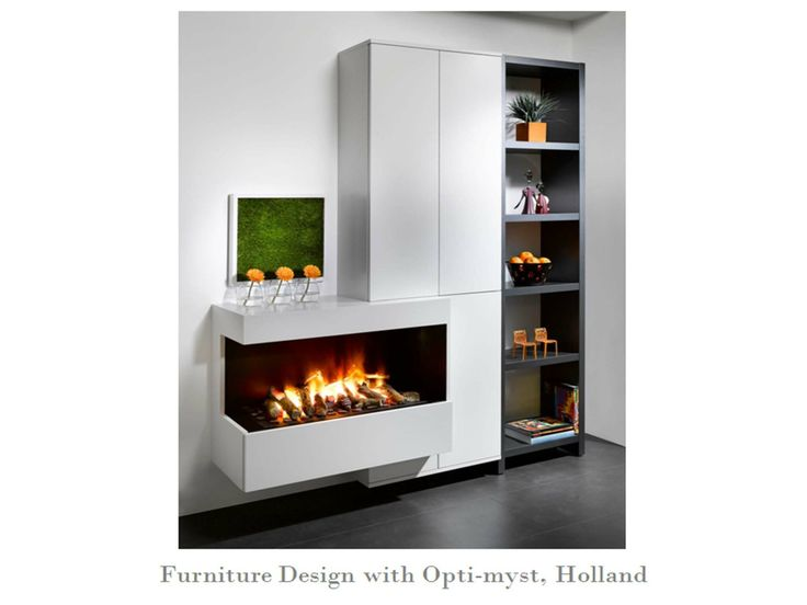 A beautiful design incorporating the dimplex optimyst for Modern living room gas fires