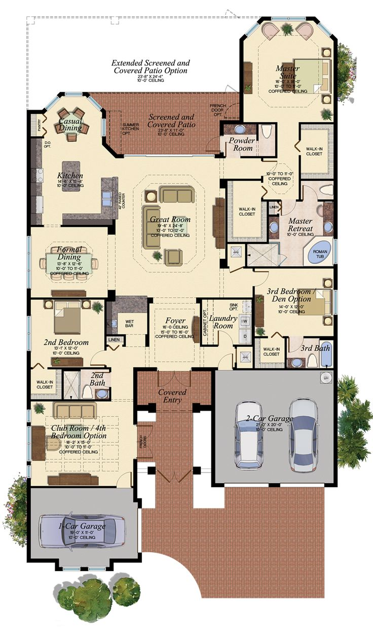 206 best floor plans images on pinterest architecture house carlyle 673 floor plan 3051 sq ft