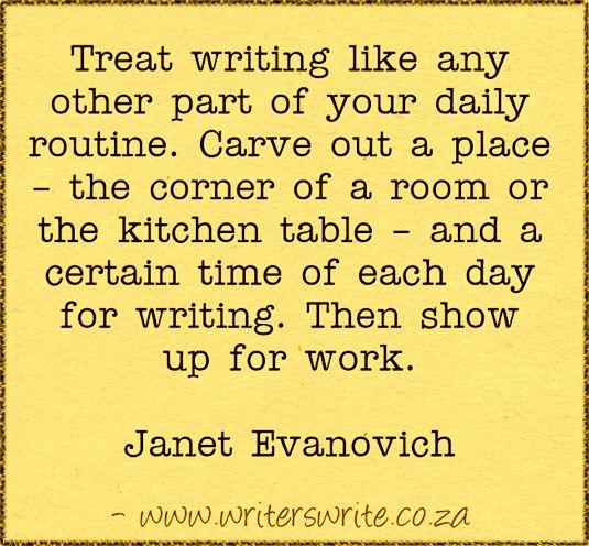 Quotable – Janet Evanovich – Writers Write