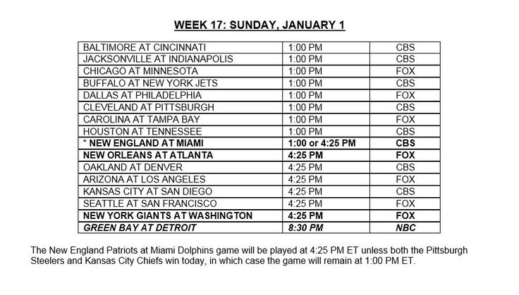 Week 17 schedule released Packers - Lions flexed to SNF  https://twitter.com/RLiuNFL/status/813127448791580674 Submitted December 25 2016 at 04:05PM by Steffnov via reddit http://ift.tt/2isYGaK