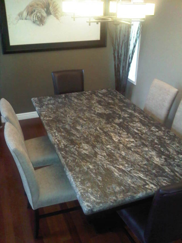 25 best granite table top ideas on pinterest for Caprice marble dining table