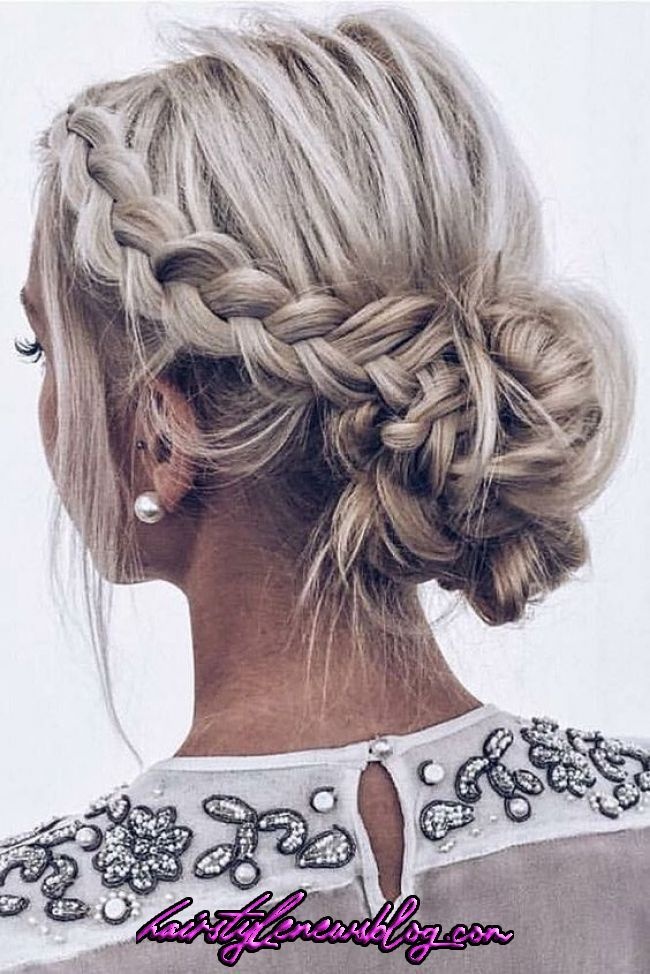 8 Fantastische Winterfrisuren mit Zöpfen 2019 – Wählen Sie das Beste für Sie | Braided hairstyles for wedding, Short hair updo, Short wedding hair   8 Fantastische Winterfrisuren mit Zöpfen 2019 – Wählen Sie das Beste für Sie | Braided hairstyles for wedding, Short hair updo, Short wedding hair