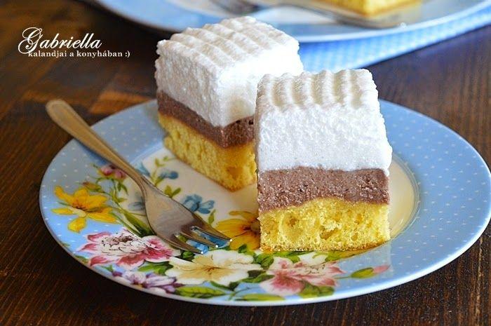Finom krémes-habos sütemény