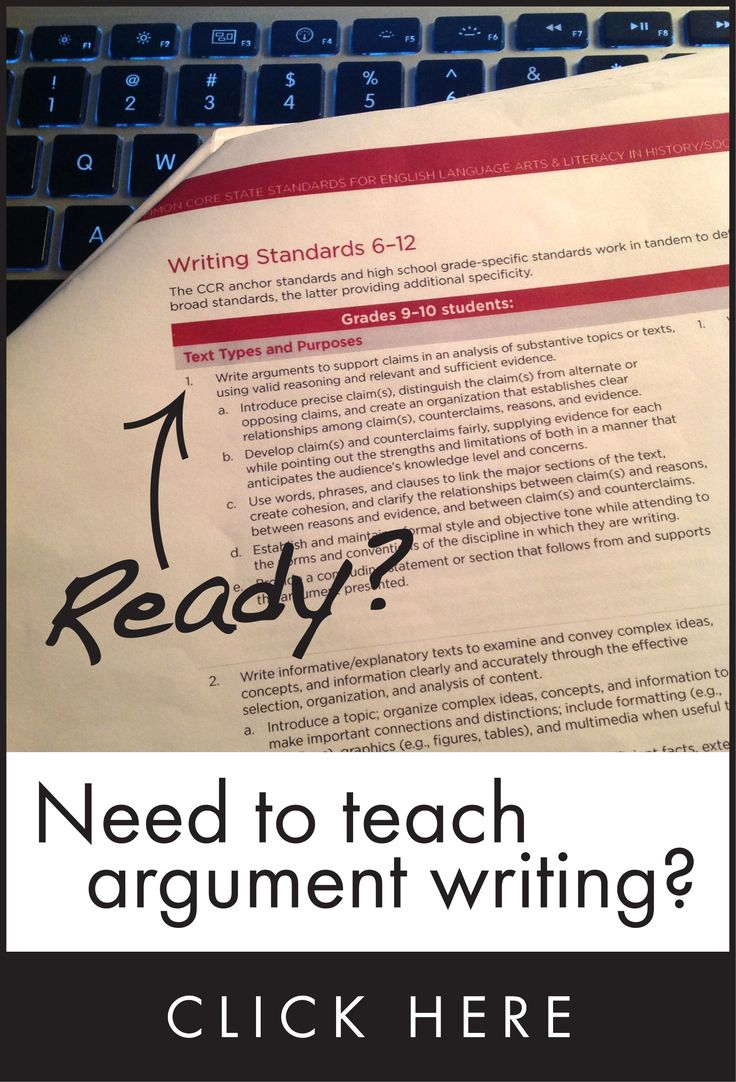 Common core writing assignments doc