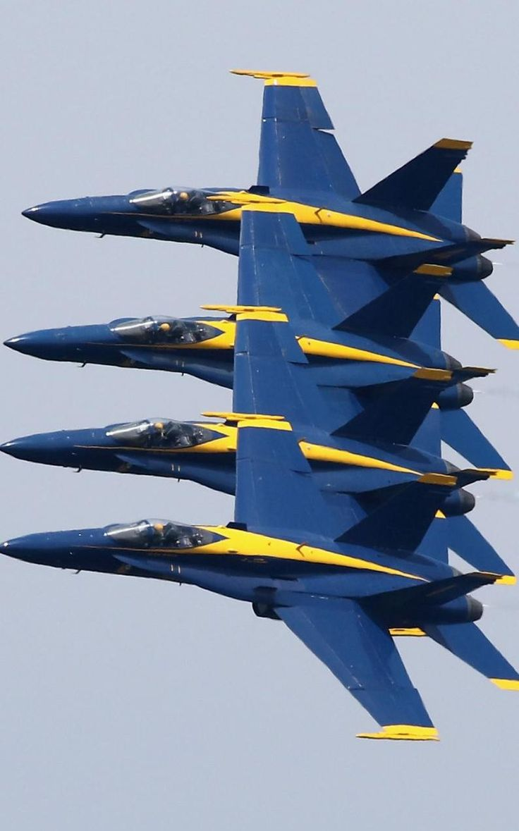 The US Navy Blue Angels perform maneuvers over the US Naval Academy May 25, 2016 in Annapolis, Maryland