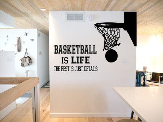 Basketball Is Life Wall Decal Basketball Wall Decor Basketball Vinyl Basketball Sports Decal Basketball Hoop Sports Wall Decal