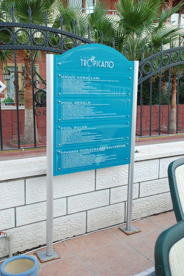 4 Dil Havuz Kuralları - Otel Kuralları 2