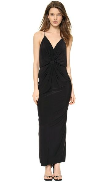 Tbags los angeles maxi dress with embroidered bibs