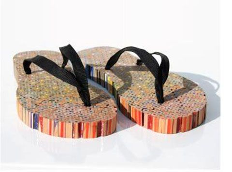 Shoes made from pencils!