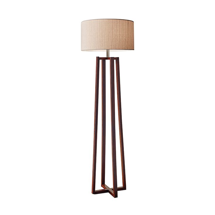Take a seat under the warm glow of the Raise a Toast Floor Lamp, ready for your martini and some laid-back lounge-worthy luxe. The dark walnut-stained wood structure offers a stylish mid-century edge t... Find the Raise a Toast Floor Lamp, as seen in the Farm Fresh Living in Marin Collection at http://dotandbo.com/collections/farm-fresh-living-in-marin?utm_source=pinterest&utm_medium=organic&db_sku=104491