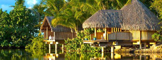 Villas at  Le Taha'a Island Resort & Spa in Tahiti