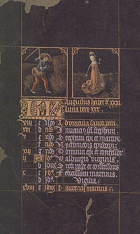 Black Hours of Charles the Bold  ~ September. see the black hours, I think they are the same, if not let me know..
