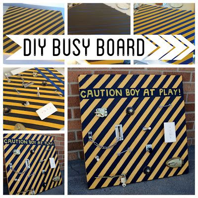 DIY Busy Board. Some kids could explore this for hours!