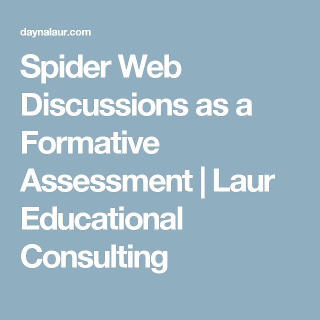 Spider Web Discussions as a Formative Assessment | Laur Educational Consulting