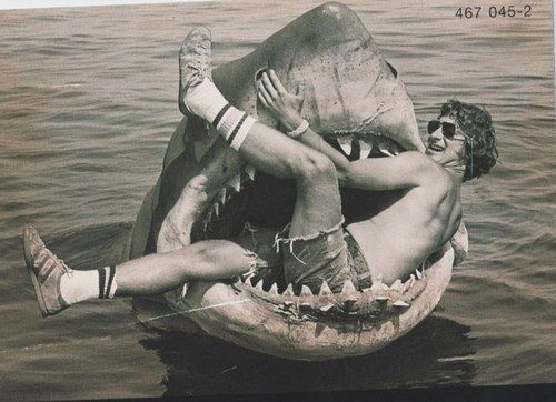 Spielberg is lunch on the set of Jaws