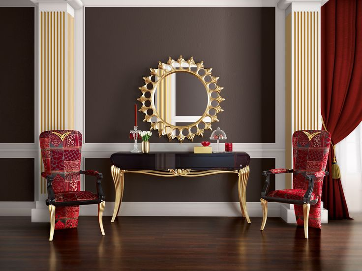 spacium console mirror and chairs jetclass real furniture luxury interior design http www. Black Bedroom Furniture Sets. Home Design Ideas