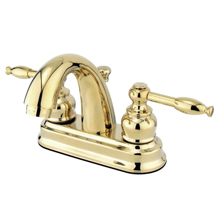 Kingston Brass GKB5612KL Water Saving Knight Centerset Lavatory Faucet with Lever Handles, Polished Brass - Price: $109.95 & FREE Shipping over $99     #kingstonbrass