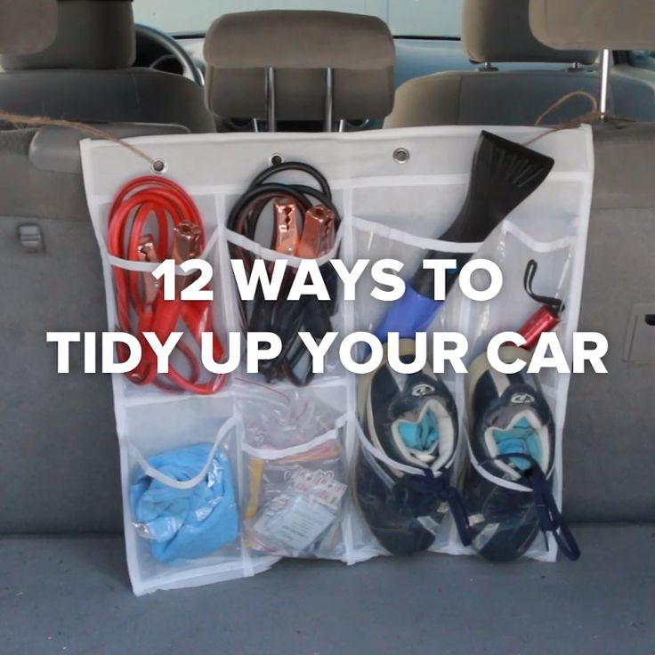12 Ways To Tidy Up Your Car // #organization #cleaning #car #carhacks