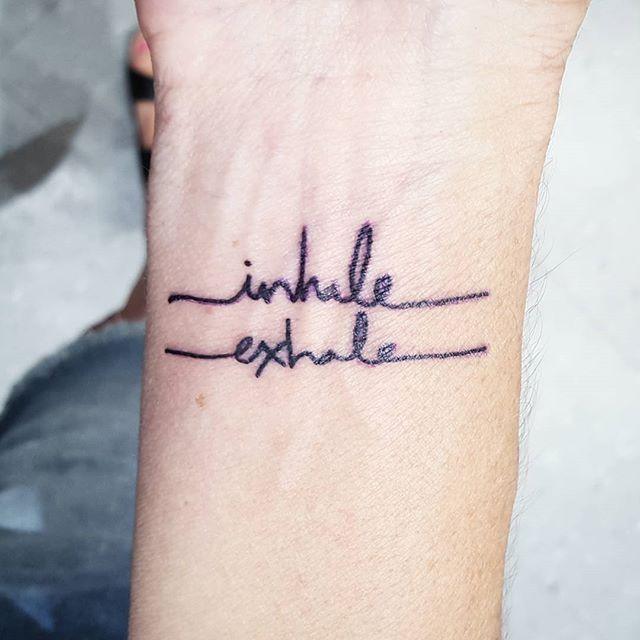 25 best ideas about inhale exhale tattoo on pinterest