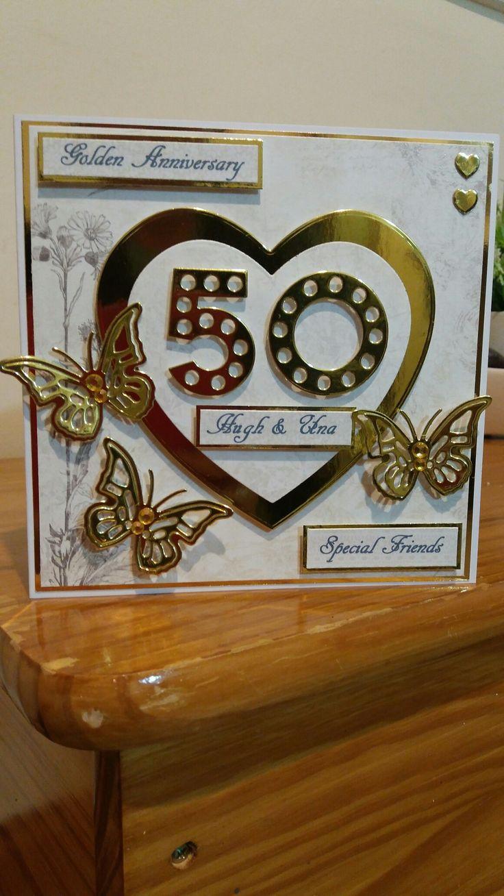 golden wedding card making ideas%0A Golden wedding anniversary card